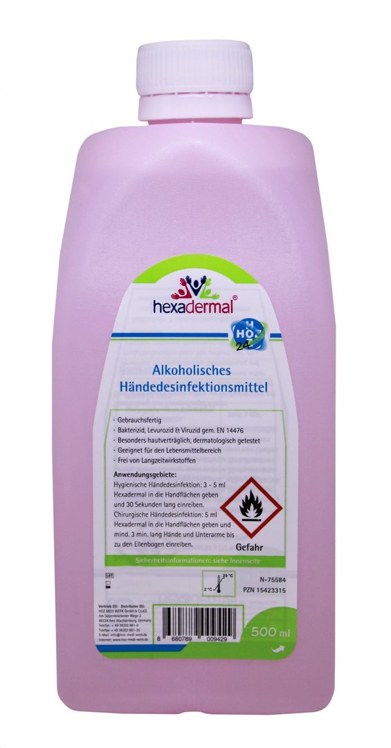 Hexadermal® alkohol. Händedesinfektion, 500ml