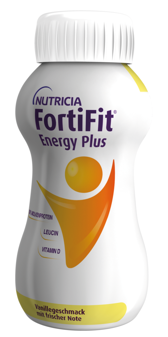 FortiFit Energy Plus Vanillegeschmack, 4x200ml